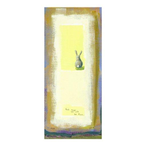 Inspirational art He Should Know Bunny rabbit Invite