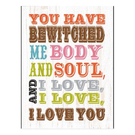 Inspirational Art - I Love You. Postcard