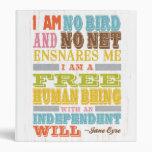 Inspirational Art - Jane Eyre 3 Ring Binder