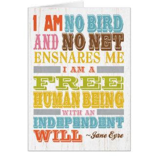 Inspirational Art - Jane Eyre Card