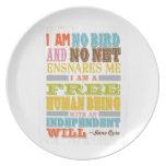 Inspirational Art - Jane Eyre Dinner Plate