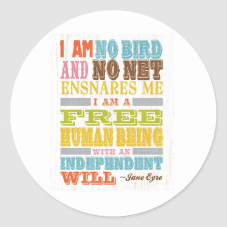 Inspirational Art - Jane Eyre Sticker