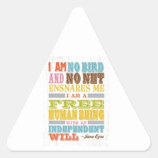 Inspirational Art - Jane Eyre Triangle Sticker