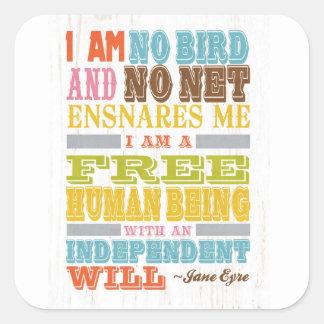 Inspirational Art - Jane Eyre Stickers