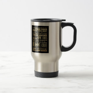 Inspirational Art - Love One Another. 15 Oz Stainless Steel Travel Mug