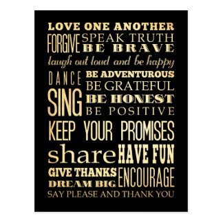 Inspirational Art - Love One Another. Postcard