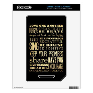 Inspirational Art - Love One Another. NOOK Color Skin