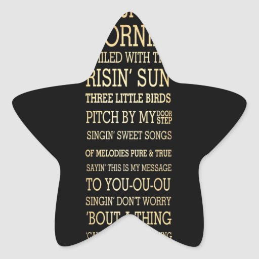 Inspirational Art - Morning Time Star Sticker