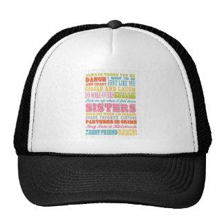 Inspirational Art - My Sister, My Best Friend. Trucker Hat