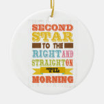 Inspirational Art - Second Star. Double-Sided Ceramic Round Christmas Ornament