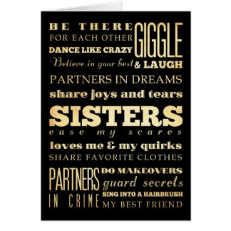 Inspirational Art - Sisters Card