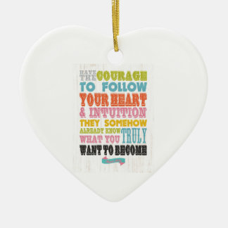 Inspirational Art - Sure Isbs Ceramic Ornament