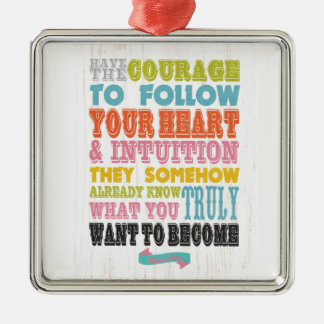 Inspirational Art - Sure Isbs Metal Ornament