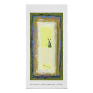 Inspirational art we will be fine rabbit painting poster