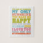 Inspirational Art - You Are My Sunshine. Puzzles