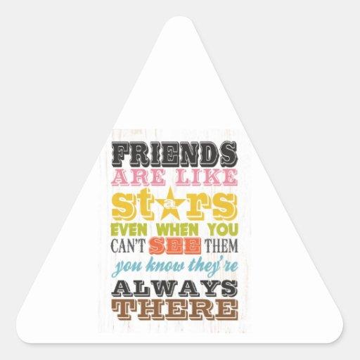 Inspirational Arts - Friends Are Like Stars. Stickers