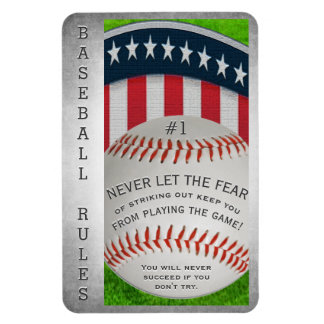 Inspirational Baseball Message Magnet
