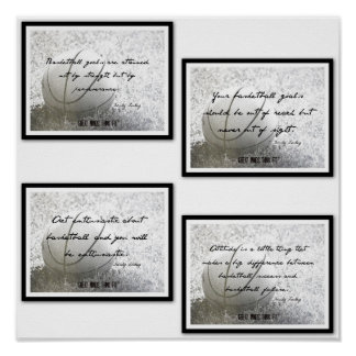 Inspirational Basketball Quotes Poster 9-12