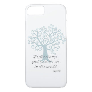 Inspirational Be the Change Tree iPhone 7 Case