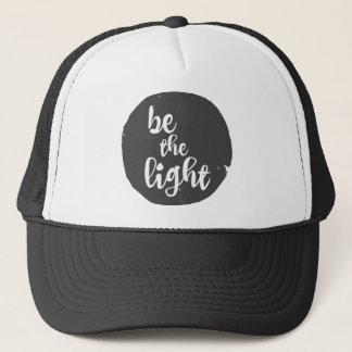 Inspirational Be the Light Trucker Hat