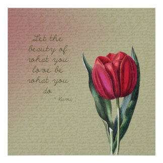 Inspirational Beauty Tulip Poster