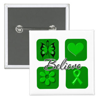 Inspirational Believe - SCT and BMT Support Pinback Buttons