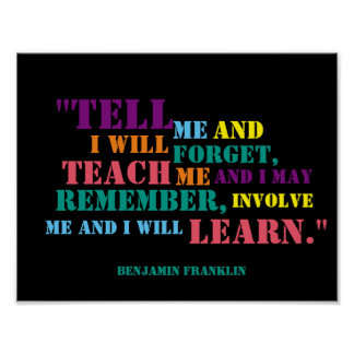 Inspirational Benjamin Franklin Quote Poster