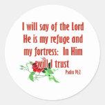 Inspirational bible quote designs round sticker