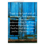 Inspirational Bible Quote Proverbs 3:5-6 Greeting Card