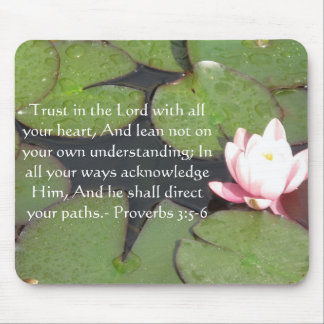 Inspirational Bible Quote Proverbs 3:5-6 Mouse Pads