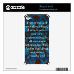 Inspirational Bible Quote Proverbs 3:5-6 iPhone 4S Decal