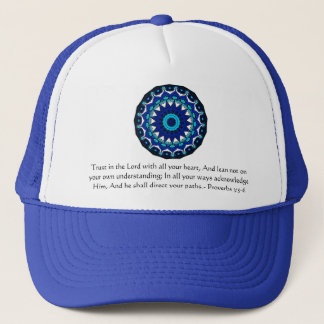 Inspirational Bible Quote Proverbs 3:5-6 Trucker Hat