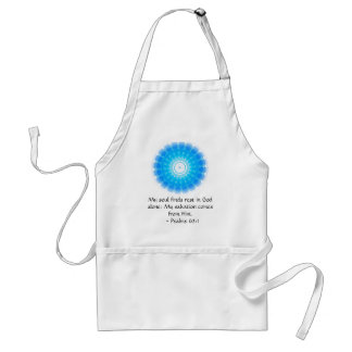 Inspirational Bible quote Psalms 62:1 Adult Apron