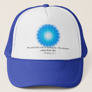 Inspirational Bible quote Psalms 62:1 Trucker Hat