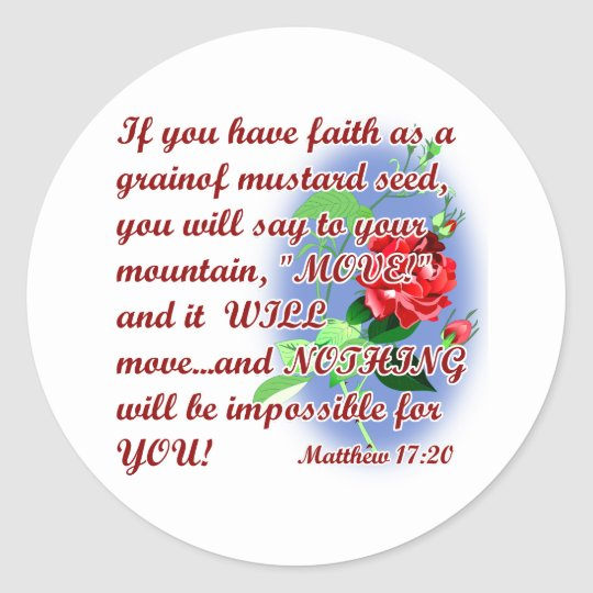 Inspirational Bible Quotes Classic Round Sticker