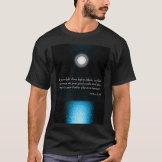 Inspirational Bible Scripture Let Your Light Shine T-Shirt
