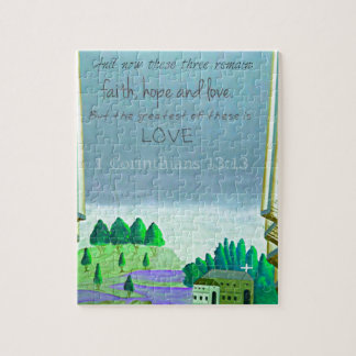 Inspirational Bible Verse about love. 1 Corinthian Jigsaw Puzzle