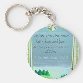 Inspirational Bible Verse about love. 1 Corinthian Key Chain