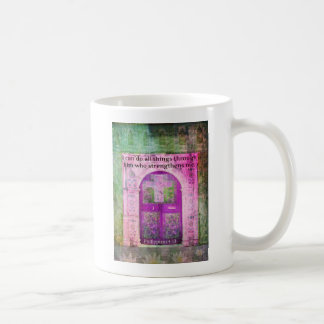 Inspirational Bible Verse About Strength & Faith Coffee Mug