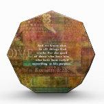 Inspirational Bible Verse Acrylic Award