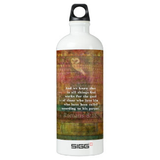 Inspirational Bible Verse Aluminum Water Bottle