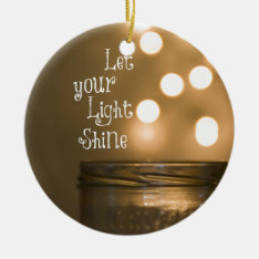 Inspirational Bible Verse Christian Quote Ceramic Ornament at Zazzle