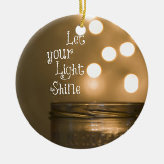 Inspirational Bible Verse Christian Quote Ceramic Ornament