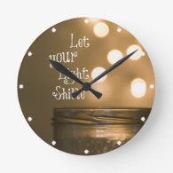Inspirational Bible Verse Christian Quote Clocks