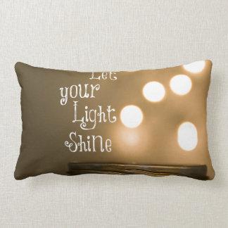 Inspirational Bible Verse Christian Quote Lumbar Pillow