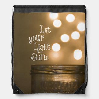 Inspirational Bible Verse Christian Quote Cinch Bag