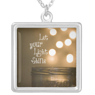 Inspirational Bible Verse Christian Quote Silver Plated Necklace