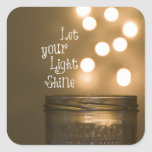 Inspirational Bible Verse Christian Quote Square Sticker