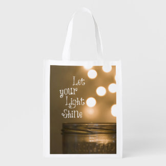 Inspirational Bible Verse Christian Quote Reusable Grocery Bags