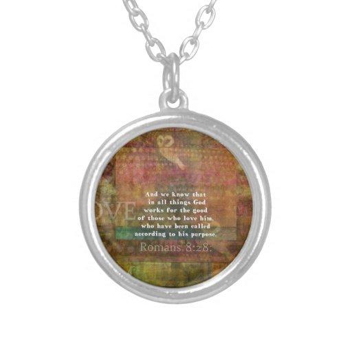 Inspirational Bible Verse Custom Necklace